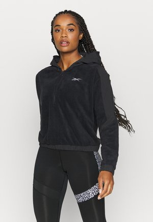 WOR WARMING 1/4 ZIP - Sweat à capuche - black
