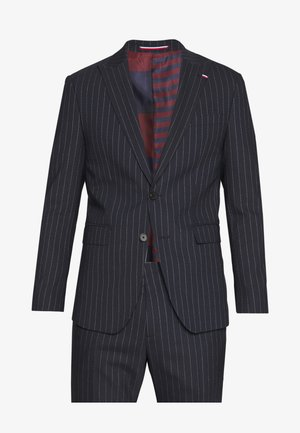 SLIM FIT PEAK LAPEL STRIPE SUIT - Costume - blue