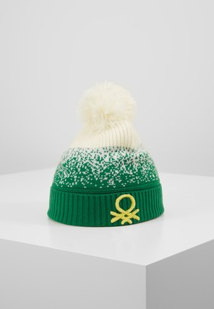 Beanie - off white/green