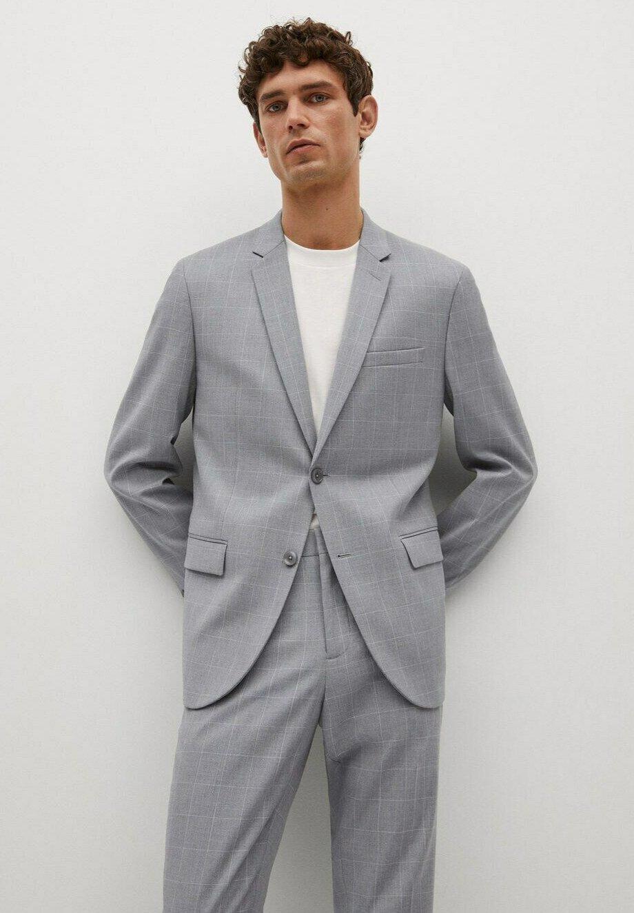 Homme KARIERTES SUPER SLIM FIT - Veste de costume