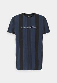 VEDLO - Print T-shirt - jet black / navy