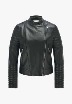 SAVILA - Leather jacket - black