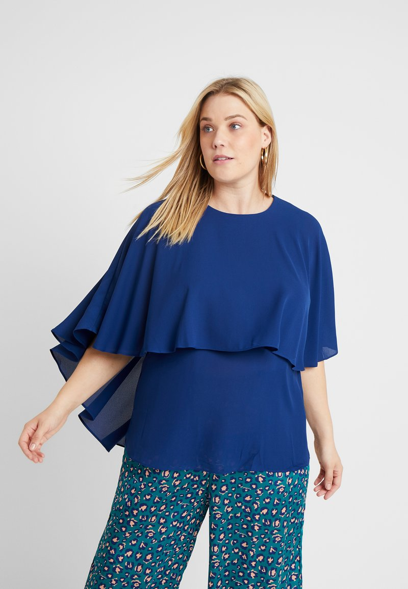 CAPSULE by Simply Be - OVERLAY - Blouse - navy
