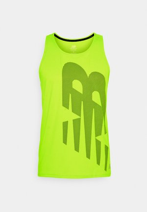 PRINTED ACCELERATE SINGLET - Top - neon green
