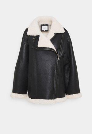 JAQUELINE - Veste en cuir - black
