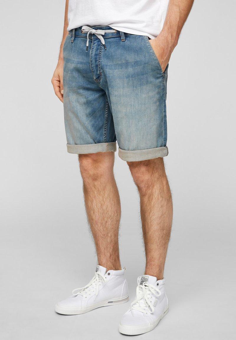 QS by s.Oliver - Denim shorts - blue