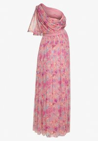 Anaya with love Maternity - ONE SHOULDER DRESS WITH FLUTTER SLEEVE - Vapaa-ajan mekko - pink - 5