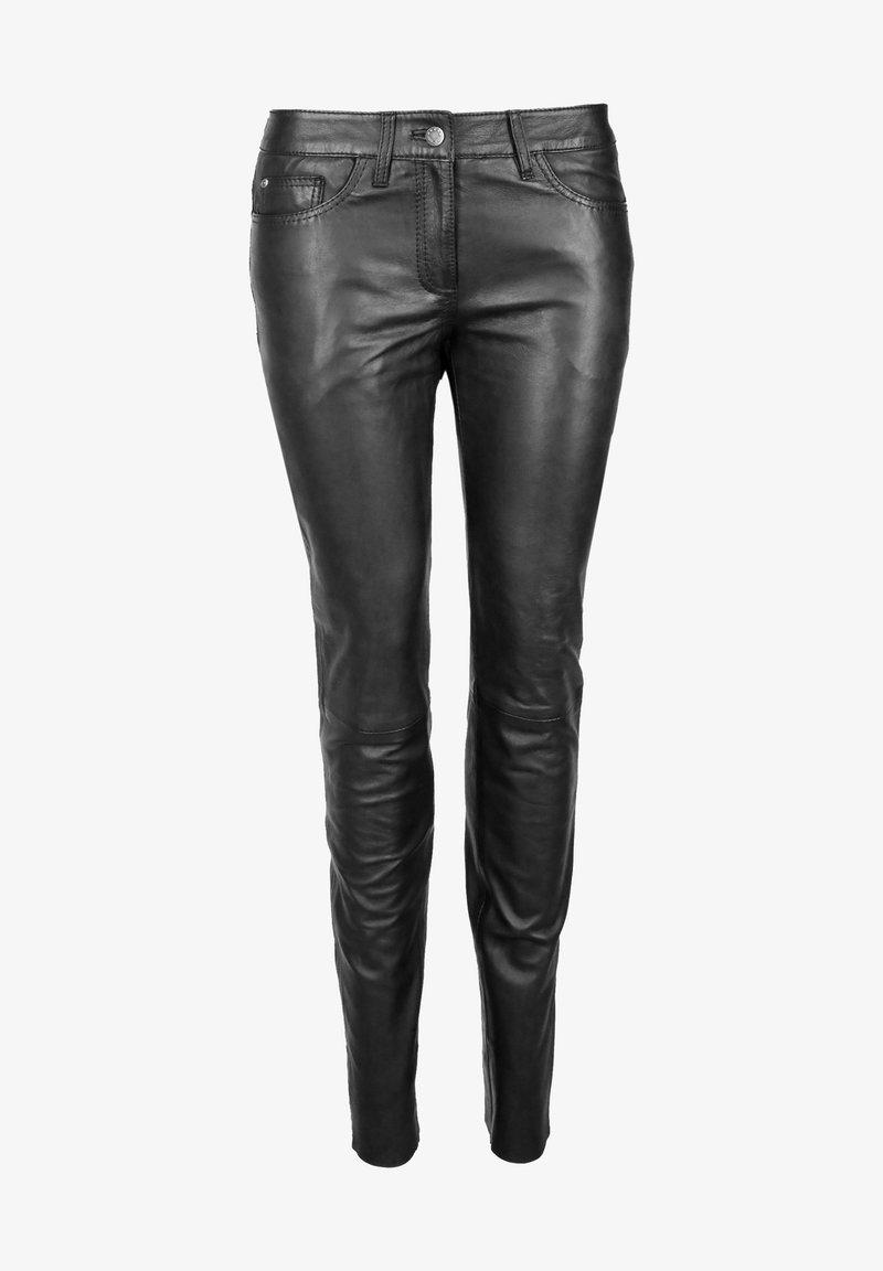 JCC - Leather trousers - black