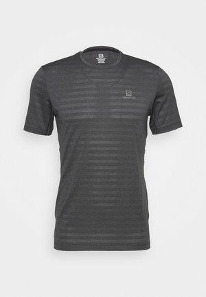 TEE - T-shirt - bas - black/heather