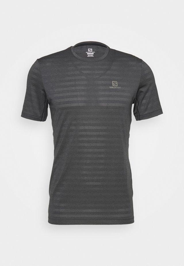 TEE - Basic T-shirt - black/heather