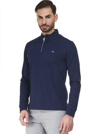 VIETRI  CON POLSO COSTINA - Polo shirt - blu scuro
