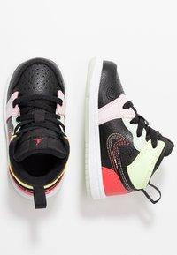 Jordan - 1 MID SE - Basketball shoes - black/ember glow/barely volt/light soft pink/jade aura - 0