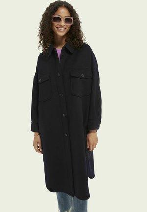 OVERSIZED SHIRT JACKET - Classic coat - midnight