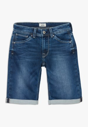 CASHED - Denim shorts - denim