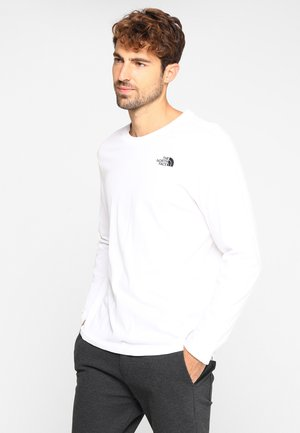 EASY TEE - Long sleeved top - white/black