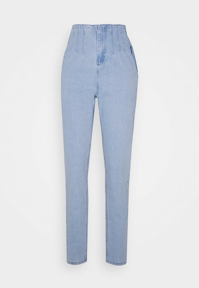 RIOT SEAM CORSET DETAIL HIGHWAISTED MOM  - Jeans baggy - stonewash