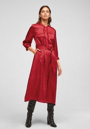 Shirt dress - red aop