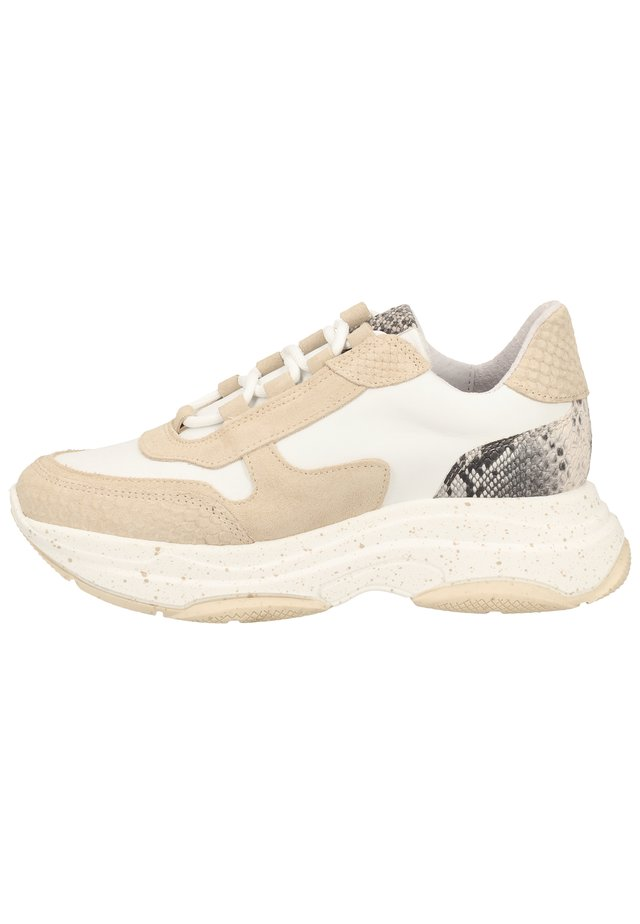 Baskets basses - snake beige/white beige 12372