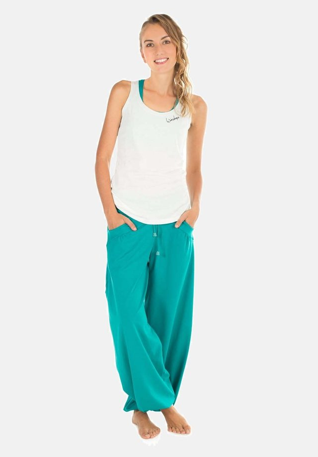 Pantaloni sportivi - ocean green