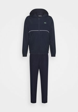TRACK SUIT SET - Tracksuit - navy blue/white