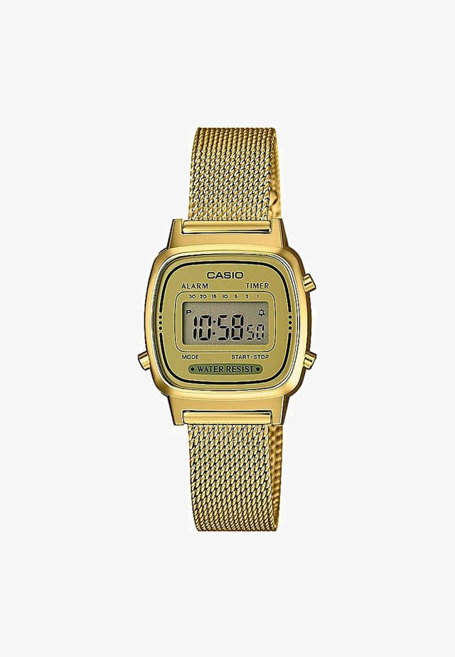 Reloj digital - gold