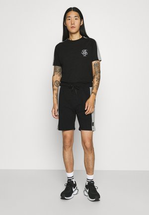 ALEX - T-shirt med print - jet black/light grey marl