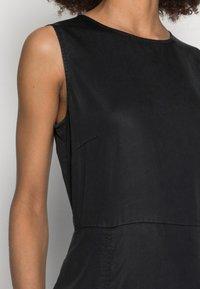 Marc O'Polo - DRESS FEMININE SILHOUETTE CUTLINES SLITS MIDI LENGTH - Day dress - dusty black - 5