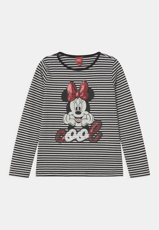 STRIPED MINNE - Longsleeve - caviar
