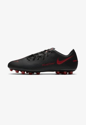 PHANTOM GT ACADEMY AG - Moulded stud football boots - black/dark smoke grey/chile red
