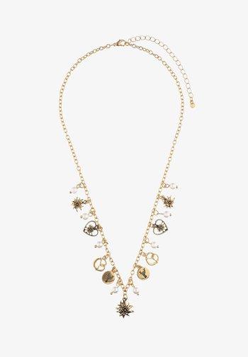MIT BREZEL-MOTIV - Necklace - goldfarben