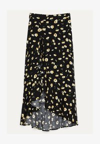 Bershka - ROCK MIT BLUMENPRINT UND VOLANTS - A-line skirt - black - 4