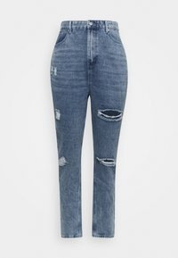 Missguided Plus - DISTRESSED DETAIL WASHED  - Relaxed fit jeans - blue - 5