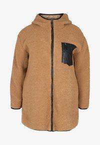 Zizzi - Fleece jacket - brown - 1