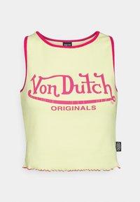 Von Dutch - ASHLEY RACER CROPPED - Top - yellow - 4