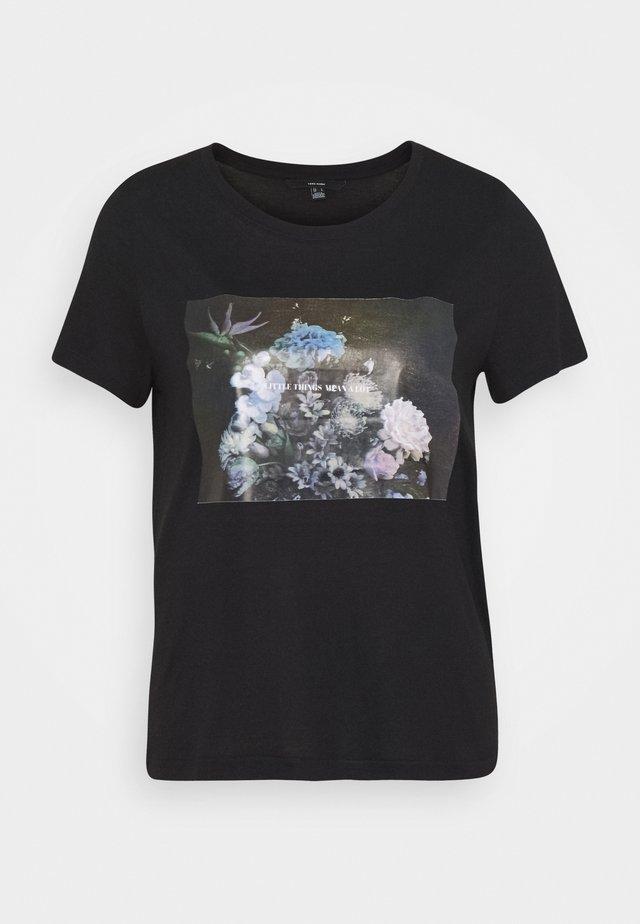 VMNELLFRANCIS BOX - Triko spotiskem - black