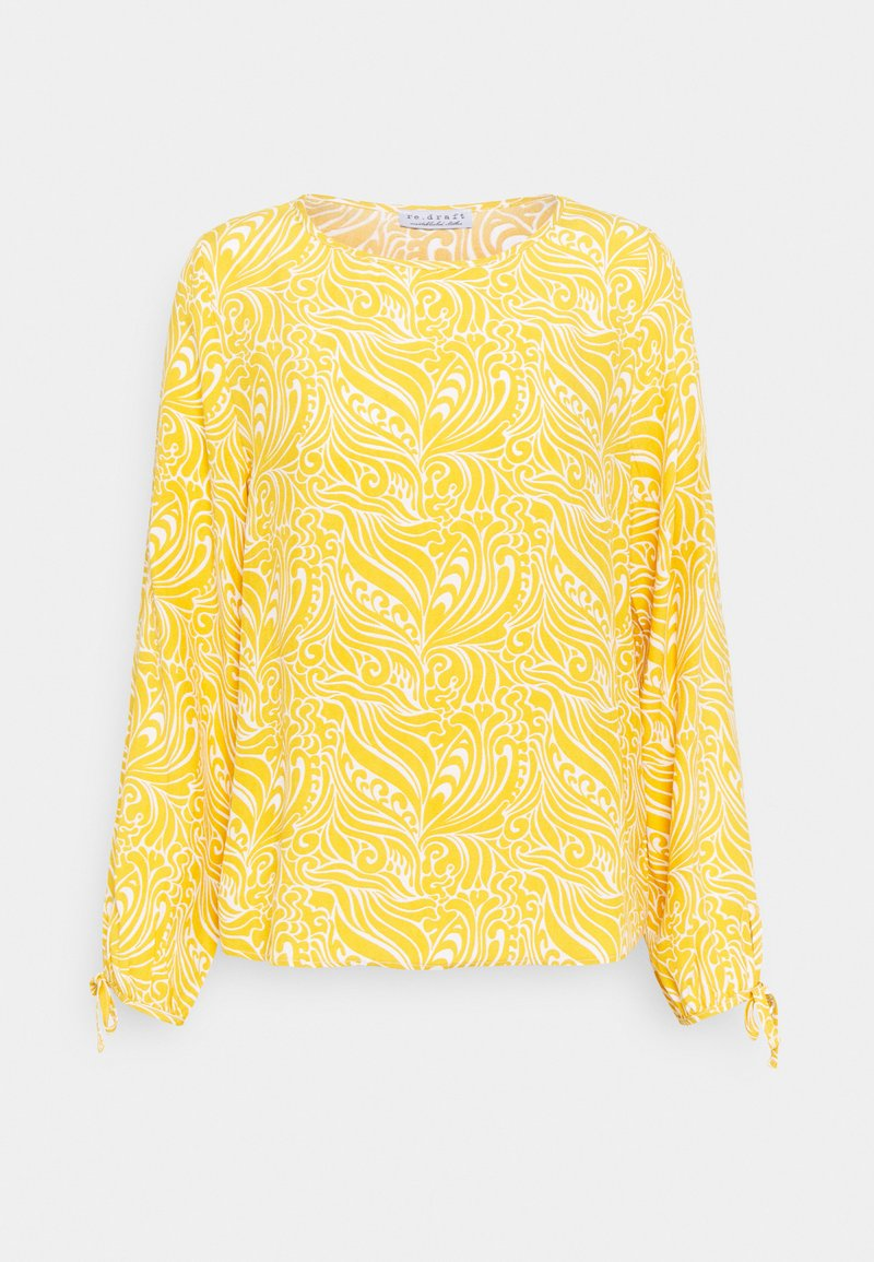 Re.draft - BLOUSE WITH SLEEVEDETAIL - Blůza - sunflower