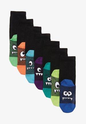 7 PACK RICH MONSTER - Socks - black