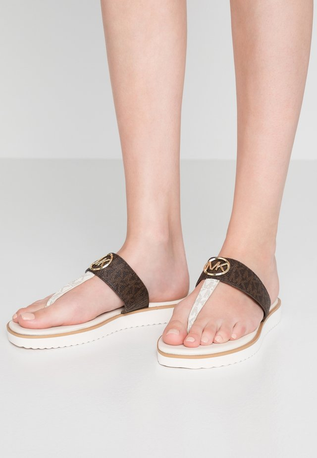 LILLIE THONG - T-bar sandals - brown