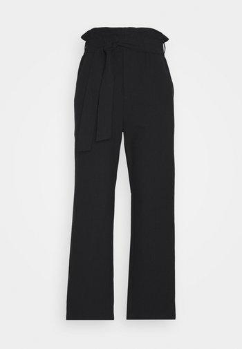 PAPER BAG PANT - Kalhoty - black