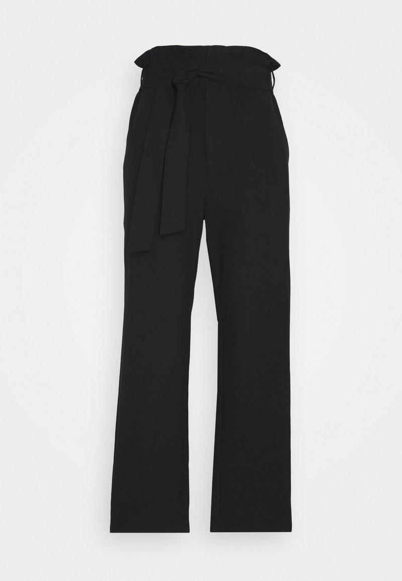 Casa Amuk - PAPER BAG PANT - Trousers - black