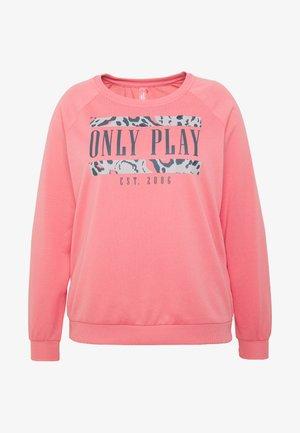 ONPMABELLE O NECK CURVY - Mikina - strawberry pink