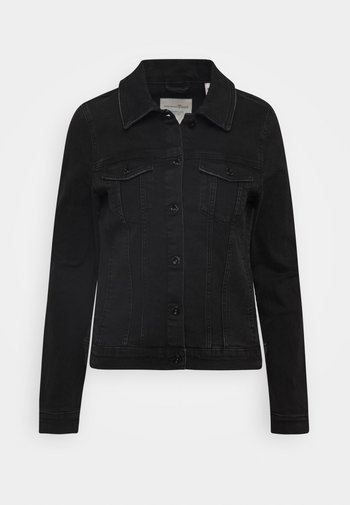 RIDERS JACKET - Denim jacket - used dark stone black