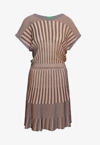 Benetton - DRESS - Pletené šaty - beige - 4