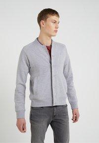 J.LINDEBERG - JASPER  STRUCTURE - Zip-up hoodie - grey melange - 0