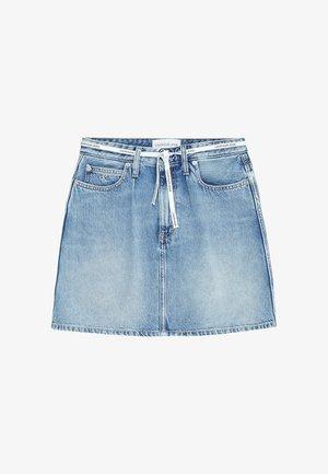 A-line skirt - denim light