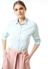 Jimmy Sanders - MIT STREIFENMUSTER - Button-down blouse - mint - 0