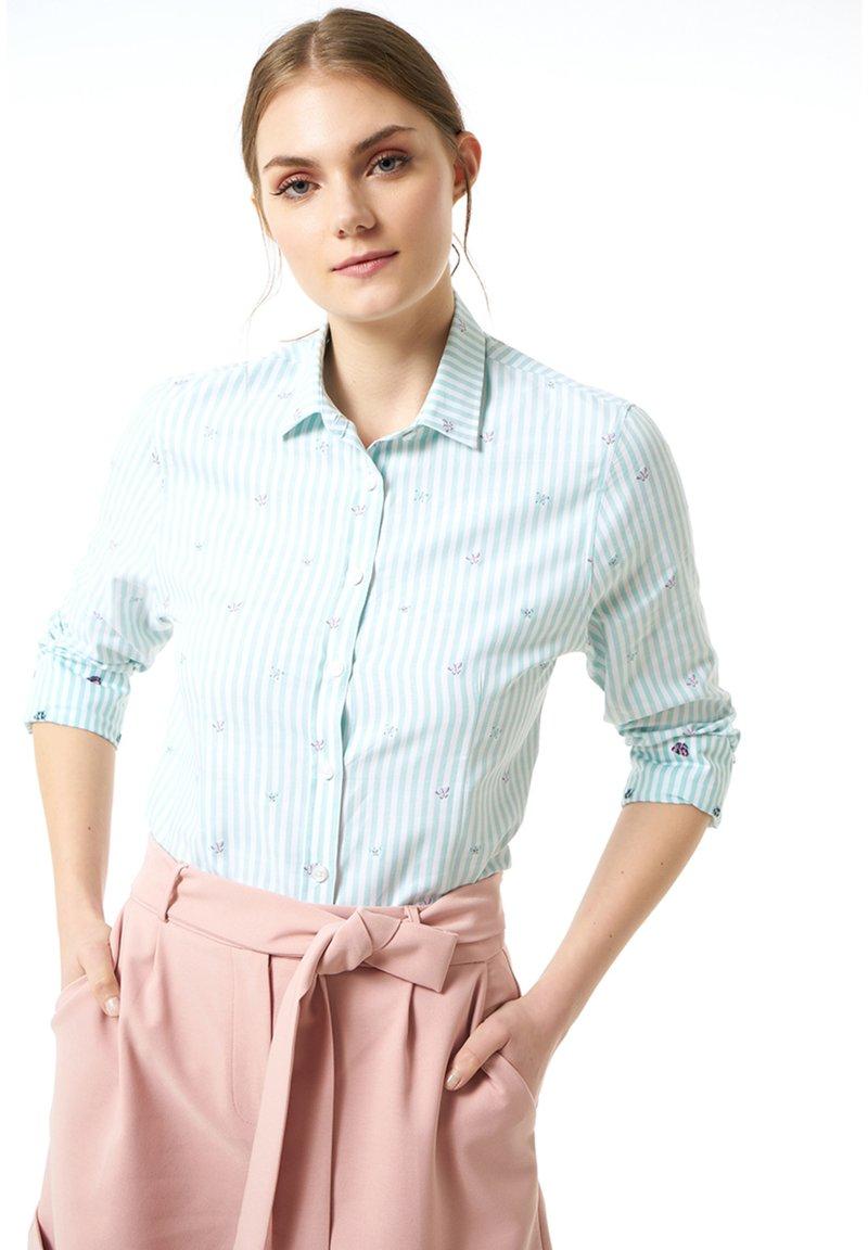 Jimmy Sanders - MIT STREIFENMUSTER - Button-down blouse - mint