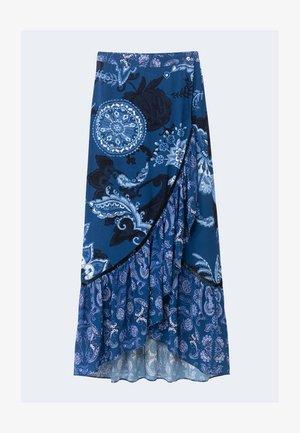 NEREA - A-line skirt - blue