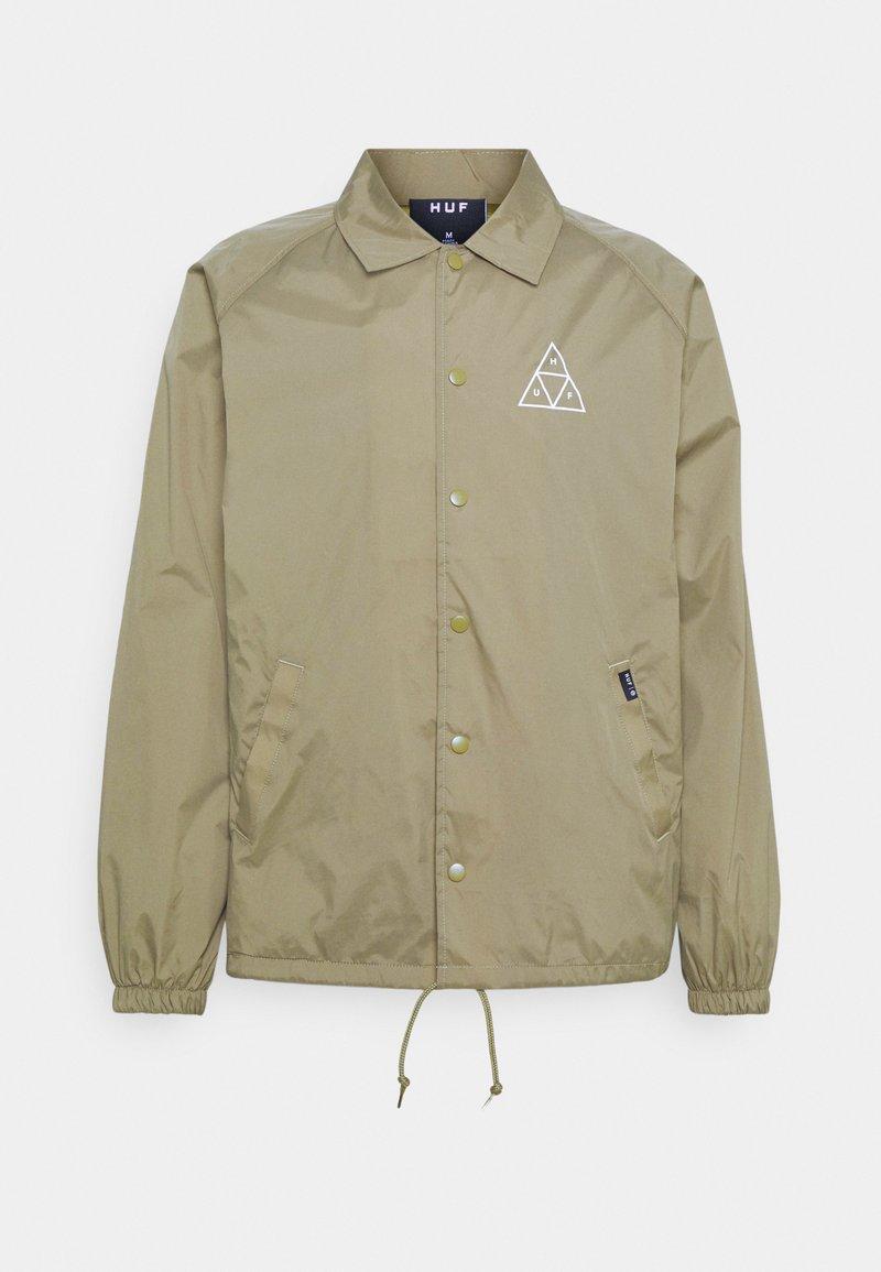 HUF - ESSENTIALS COACHES JACKET - Summer jacket - stone