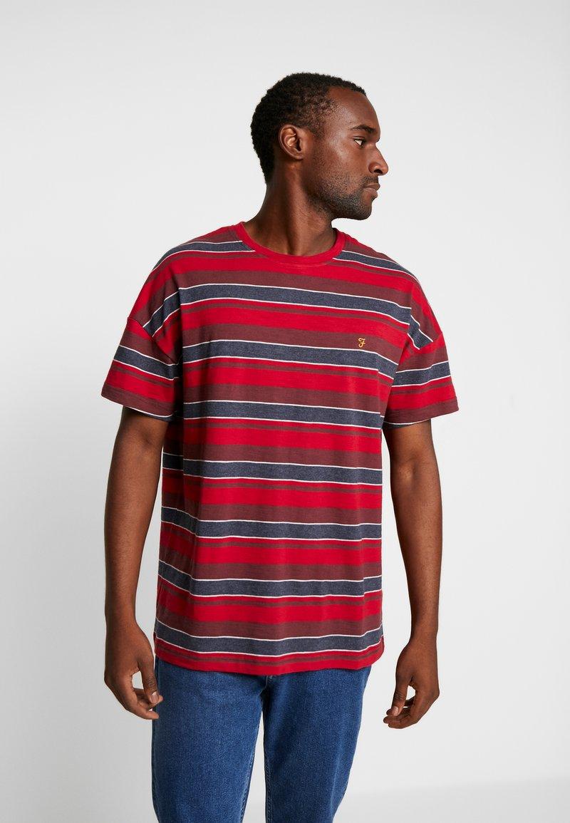Farah - WIGNALL TEE - Print T-shirt - tar marl